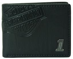 Harley-Davidson® Men's Bar & Shield Classic Bi-Fold Leather Wallet