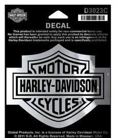 Harley-Davidson® Bar & Shield® Logo Chrome Decal | Medium