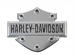 Harley-Davidson® 3-D Bar & Shield® Decal | Chrome Finish | X-Small