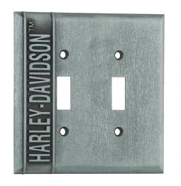 Harley-Davidson® Double Switch Plate | Vertical Logo