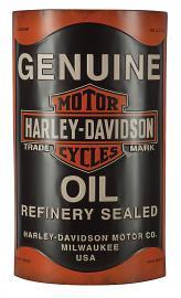 Harley-Davidson® 3-D Oil Can Metal Sign