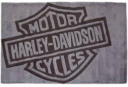 Harley-Davidson® Bar & Shield® Small Area Rug   Hand Tufted