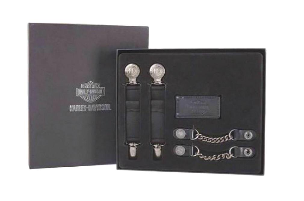 Harley-Davidson® Three-Piece Rider Gift Set | Boot Clips | Vest Extenders | Money Clip