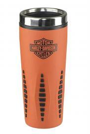 Harley-Davidson® Bar & Shield® Orange Insulated Travel Mug   Stainless Steel