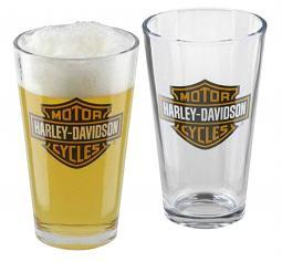Harley-Davidson® Bar & Shield® Pint Glass Set | Set of Two
