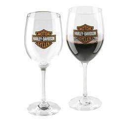 Harley-Davidson® Bar & Shield® Wine Glass Set | Set of Two