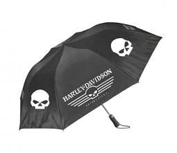 Harley-Davidson® Retractable Umbrella | Skull Graphics