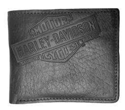 Harley-Davidson® Men's Bar & Shield® Bison Billfold Wallet | American Classic