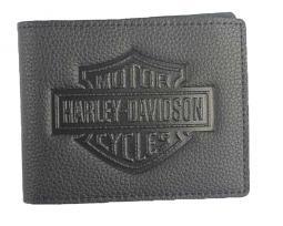 Harley-Davidson® Men's Billfold Wallet | Embossed Bar & Shield® Logo