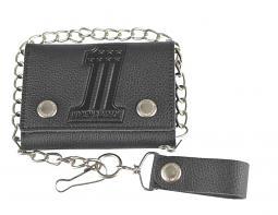 "Harley-Davidson® Men's Embossed #1 Medium Trucker Wallet | Zip Coin Pocket | 19"" Chain"