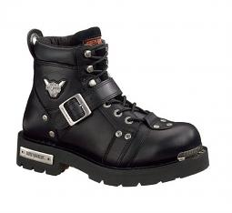 Harley-Davidson® Men's Brake Buckle Black Leather Motorcycle Boots