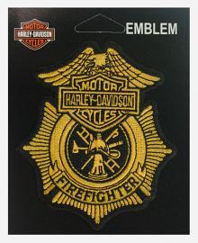 Harley-Davidson® Bar & Shield® Firefighter Emblem | Small