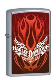 Harley-Davidson® Red Skull Graphics Street Chrome Zippo Lighter