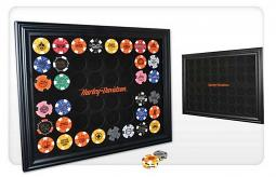 Harley-Davidson® Black 48 Poker Chip Collectors' Frame