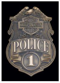 Harley-Davidson® Bar & Shield® #1 Police Die-Cut Tin Plate Sign