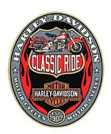 Harley-Davidson® Bar & Shield® Classic Ride Tin Sign   Die-Cut