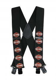 "Harley-Davidson® Bar & Shield® 42"" Suspenders | Black and Orange"