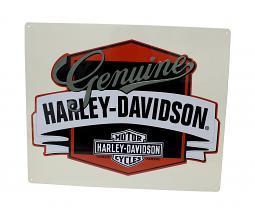 Harley-Davidson® Bar & Shield® Genuine Banner Tin Plate Sign