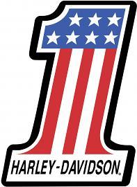 Harley-Davidson® #1 Racing Die-Cut Blank Card